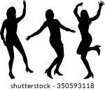 women silhouettes. | Shutterstock .eps vector #350593118