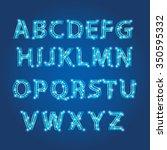 lightbulb alphabet glamorous... | Shutterstock .eps vector #350595332