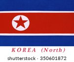 Small photo of The flag of North Korea was adopted on 8 September 1948, as the national flag and ensign of this isolationist Stalinist state.A¢?A¨