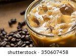 Cold Coffee On Wood