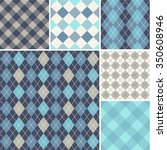 argyle   seamless set of... | Shutterstock .eps vector #350608946