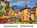 view of the old town of annecy  ... | Shutterstock . vector #350609168