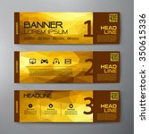 banners set for business modern ... | Shutterstock .eps vector #350615336