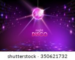 disco ball. disco background | Shutterstock .eps vector #350621732