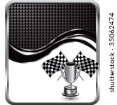 racing checkered flags and... | Shutterstock .eps vector #35062474