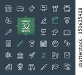outline icon collection  ... | Shutterstock .eps vector #350625428
