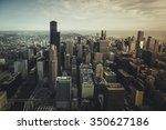 chicago financial district ... | Shutterstock . vector #350627186