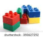 building blocks isolated on... | Shutterstock . vector #350627252