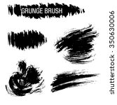 vector set of grunge brush... | Shutterstock .eps vector #350630006
