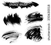 vector set of grunge brush... | Shutterstock .eps vector #350630018