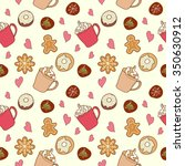 Seamless Pattern Of Coffee And...