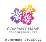 hawaii flower logo icon vector | Shutterstock .eps vector #350637722