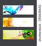 abstract backgrounds. banner set | Shutterstock . vector #350638652