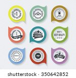 set of vintage retro premium... | Shutterstock .eps vector #350642852