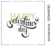 happy valentine day. gold... | Shutterstock .eps vector #350648582