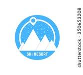 simple ski resort logo. concept ... | Shutterstock .eps vector #350653208