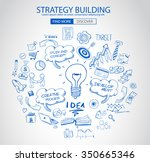 strategy building concept with... | Shutterstock .eps vector #350665346