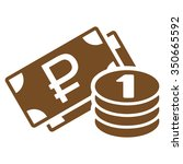 rouble cash vector icon. style... | Shutterstock .eps vector #350665592