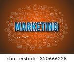 marketing business concept with ...   Shutterstock .eps vector #350666228