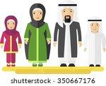 arabian family man women... | Shutterstock .eps vector #350667176