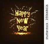 happy new year | Shutterstock .eps vector #350668616
