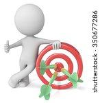 hitting target. dude 3d... | Shutterstock . vector #350677286