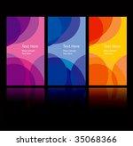 vector business card set | Shutterstock .eps vector #35068366