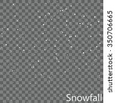 isolated snowfall overlay  ... | Shutterstock .eps vector #350706665