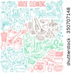 house and home cleaning themed... | Shutterstock .eps vector #350707148