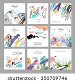 set of artistic creative... | Shutterstock .eps vector #350709746