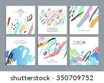 set of artistic creative... | Shutterstock .eps vector #350709752