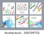 set of artistic creative...   Shutterstock .eps vector #350709752