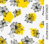 seamless vector floral pattern  ... | Shutterstock .eps vector #350720825
