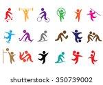 sport vector icons set | Shutterstock .eps vector #350739002