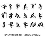sport vector icons set | Shutterstock .eps vector #350739032