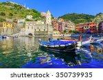 Cinque Terre, Vernazza. Italy. Fishing village in Cinque Terre national park, Italy. - stock photo