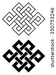 endless outline knot tibet ... | Shutterstock .eps vector #350753246