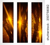 set of bright digital banners... | Shutterstock .eps vector #350758082