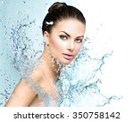 beautiful model spa woman with... | Shutterstock . vector #350758142