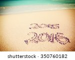 celebrating the year 2016 on a... | Shutterstock . vector #350760182