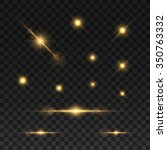 glowing lights and stars.... | Shutterstock .eps vector #350763332