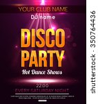 disco party background. hot... | Shutterstock .eps vector #350764436