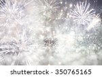 fireworks at new year and copy... | Shutterstock . vector #350765165