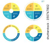 circular infographics with... | Shutterstock .eps vector #350767802