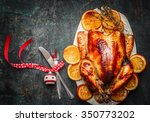 Christmas Turkey With Fork...