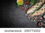 food background for fish dishes ... | Shutterstock . vector #350773352