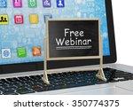laptop with chalkboard  free... | Shutterstock . vector #350774375