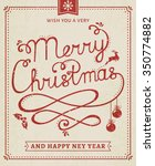merry christmas and happy new... | Shutterstock .eps vector #350774882