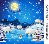 christmas background   vector... | Shutterstock .eps vector #350781692