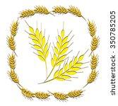 vector illustration ear of wheat   Shutterstock .eps vector #350785205